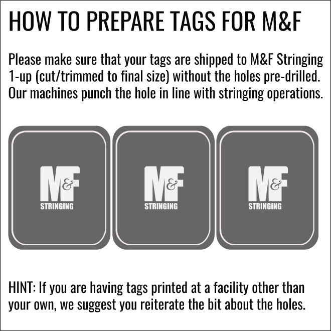 How To Prepare Tags for M&F
