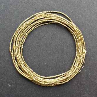 A coil of 3-ply gold lamé.