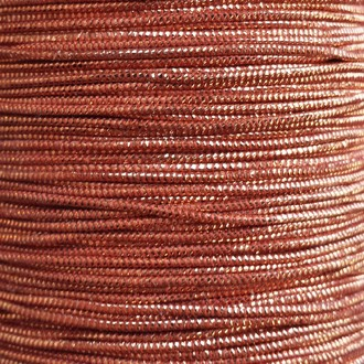 A spool of our copper metallic elastic.