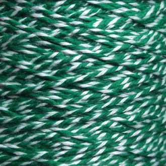 Spool of heavyweight variegated green-white cotton string