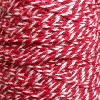 Spool of heavyweight variegated red-white cotton string