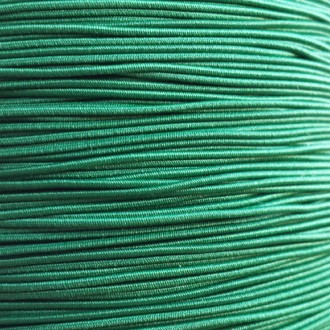 A spool of our green non-fray elastic.