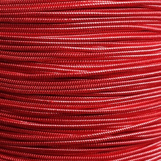 A spool of our red metallic elastic.