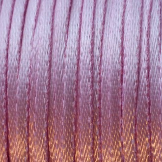 "A spool of light pink 1/16"" double-faced satin ribbon."