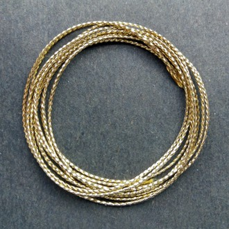 A coil of gold braid.