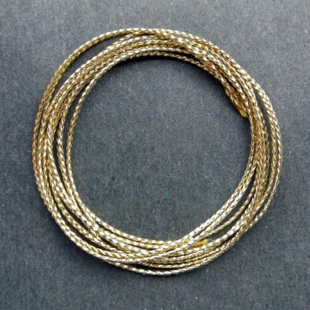 A coil of gold braid.